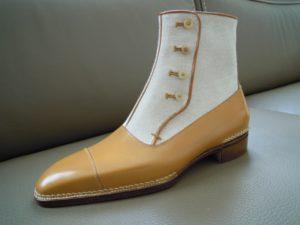 Chaussures hommes bottine à boutons