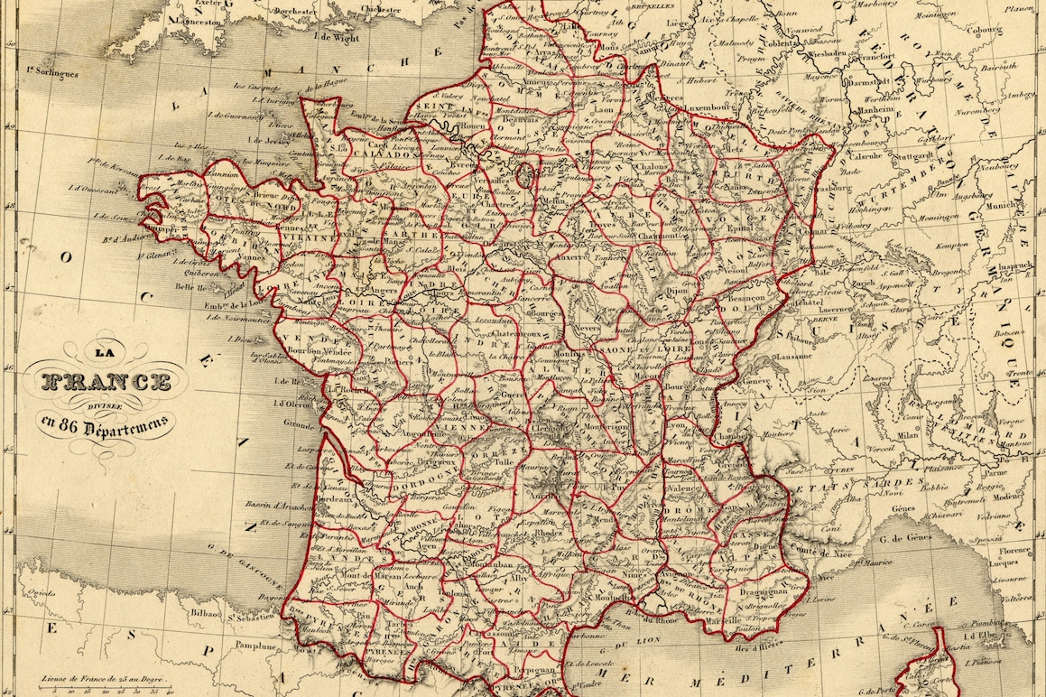 Carte France Vuillemin 1843 - articles