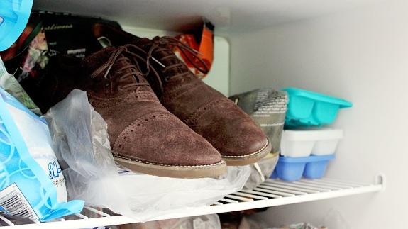 chaussures au congélateur