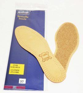 semelle de confort cuir sur liege saphir 270x300 - Chaussures trop grandes : quelles solutions ?