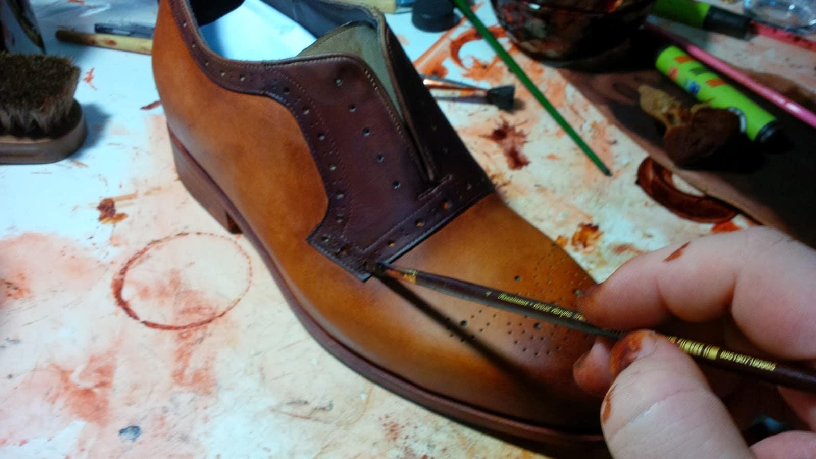 patine chaussures en cuir - articles