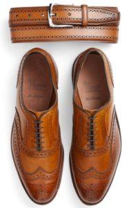 ceinture  en cuir pour homme et chaussures