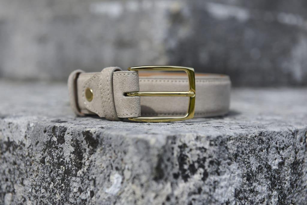 ceinture velours beige 1024x684 - 5 nouvelles patines, 7 nouvelles ceintures : 57 possibilités !