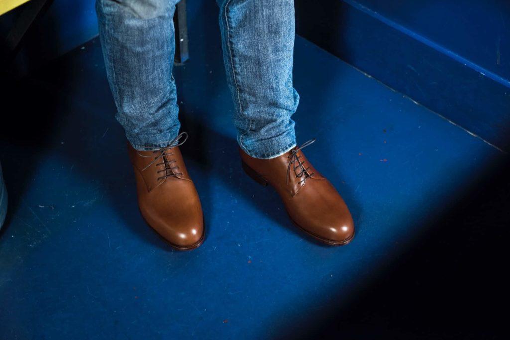 chaussure derby plain toe 1024x683 - La chaussure derby : origines et histoire