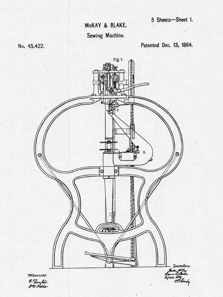 machine mckay cousu blake 768x1024 - Cousu Goodyear : origines et histoire d'une fabrication emblématique